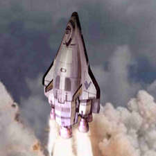 Fantastic-four rocketing shuttle
