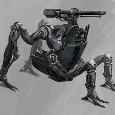 macine-gun-with-legs